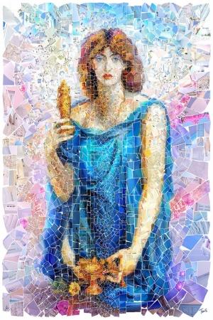 Womankind Mozaik İllustrasyon Kanvas Tablo