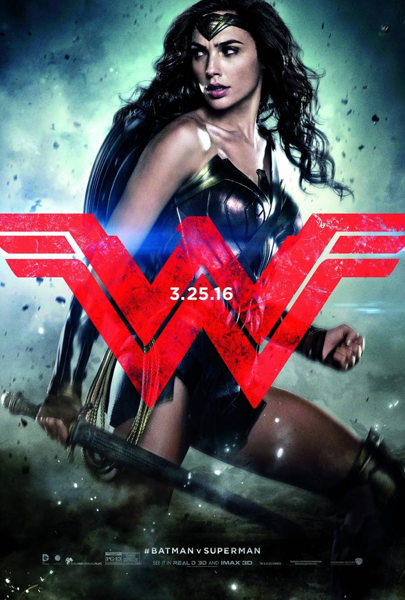 Wonder Woman Batman ve Süperman Süperman Süper Kahramanlar Kanvas Tablo