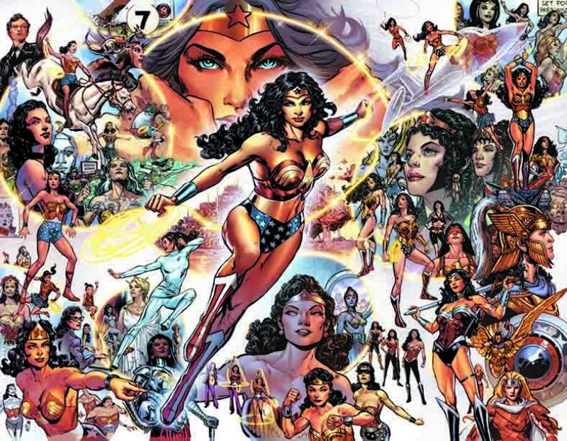 Wonder Woman Çizgi Roman Popüler Kültür Kanvas Tablo