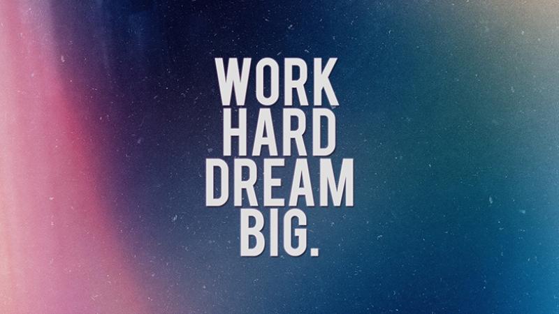 Work Hard Dream Big Popüler Kültür Kanvas Tablo