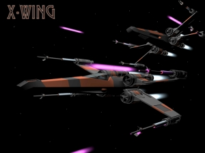 X Wing Starfighter Star Wars Kanvas Tablo