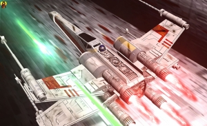 X Wing ve R2D2 Star Wars Kanvas Tablo