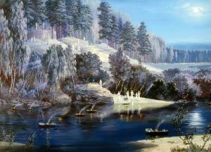 Yağlı Boya Manzara Sanat Kanvas Tablo