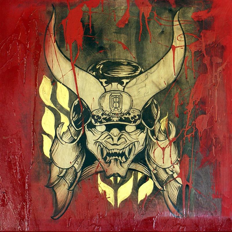 Yakuza Japon Yağlı Boya Sanat Kanvas Tablo