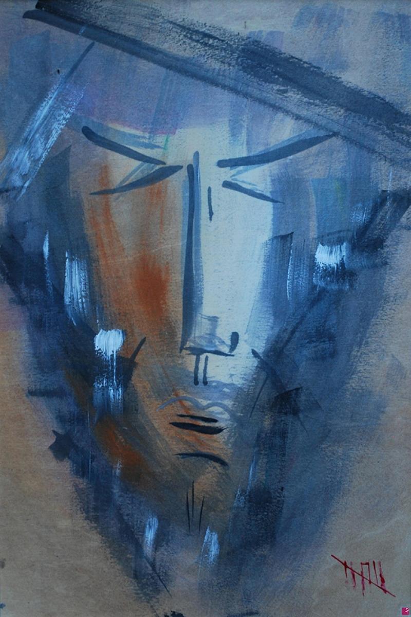 Yalnız Bir Arada Soyut Abstract Sanat Kanvas Tablo