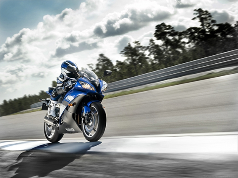 Yamaha YZF Motorsiklet Yarışı Kanvas Tablo