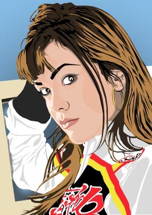 Yarışçı Kız İllustrasyon Çizim Popüler Kültür Kanvas Tablo