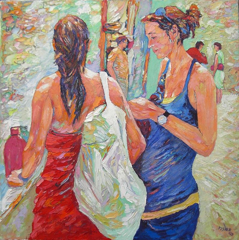 Yaz Kadınları Yağlı Boya Sanat Kanvas Tablo