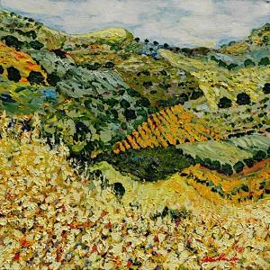 Yaz Manzarası Yağlı Boya Sanat Kanvas Tablo