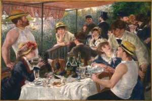Yelken Partisinin Oğle Yemegi, Luncheon of The Boating Party By Pierre Auguste Renoir Klasik Kanvas Tablo