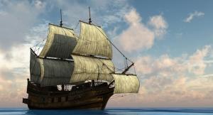 Yelkenli Gemi Yağlı Boya Sanat Kanvas Tablo