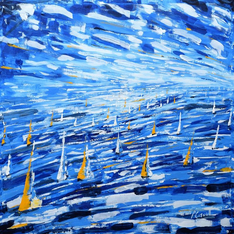Yelkenli Tekneler Yarış 3, Deniz Manzara Dekoratif   Canvas Tablo