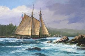 Yelkenli  Tekneler Yarış 6, Deniz Manzara Yağlı Boya Dekoratif Modern Kanvas Tablo