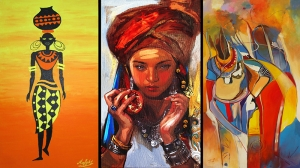 Yerel Kıyafetli Kadınlar, Yöresel Kıyafetlil Kadınlar Temalı Kanvas Tablo