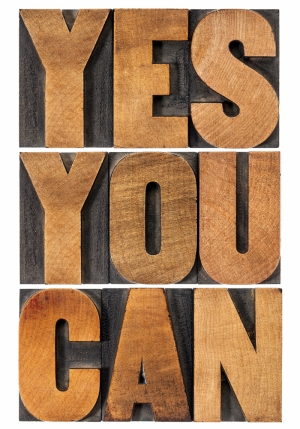 Yes You Can Motivasyon Retro & Motto Kanvas Tablo