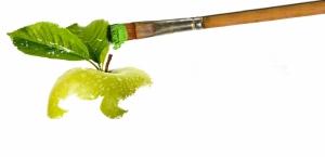 Yeşil Elma Sanatsal Fotoğraf Lezzetler Kanvas Tablo