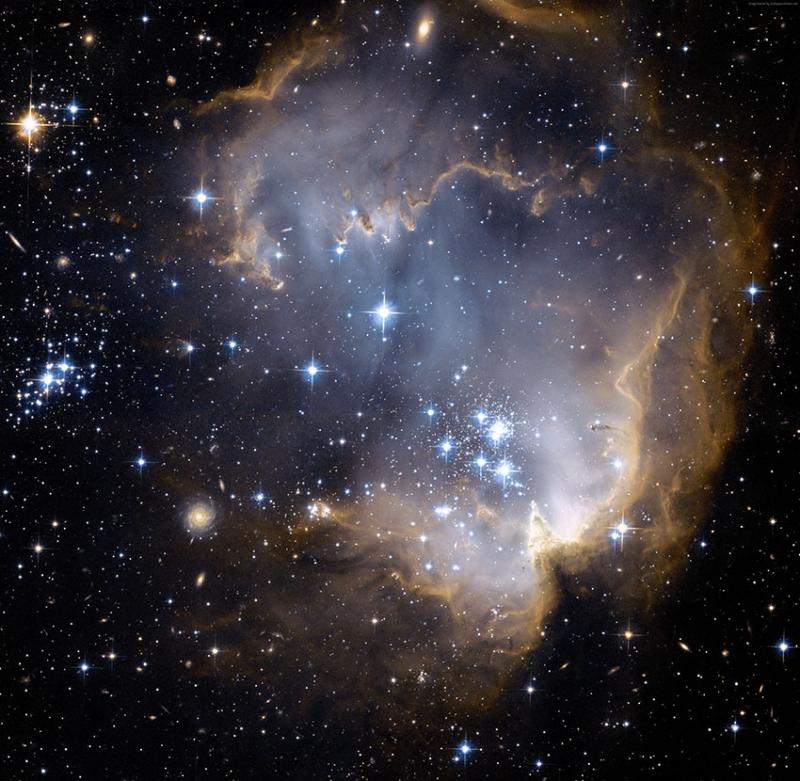 Yıldızlar Gaz Bulutları Dünya & Uzay Kanvas Tablo