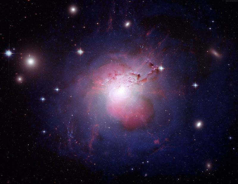 Yıldızlar ve Nebula Bulutlar Dünya & Uzay Kanvas Tablo
