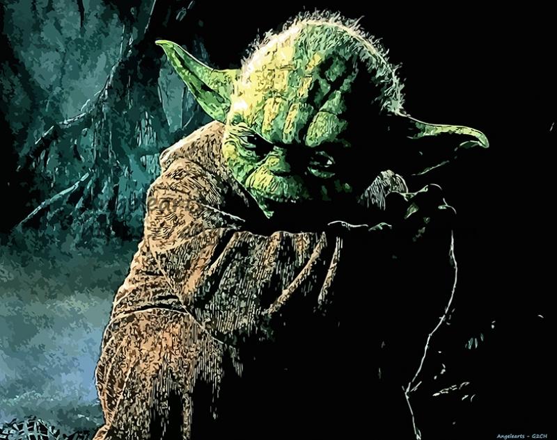 Yoda Master Star Wars Kanvas Tablo