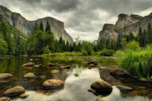 Yosemite- National Park Manzara Kanvas Tablo