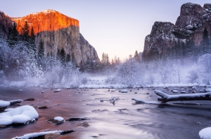 Yosemite Ulusal Parkı Kaliforniya Usa Dağlar Arasın Issız Göl Doğa Manzaraları Kanvas Tablo