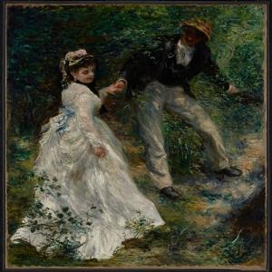 Yürüyüş, Pierre August Renoir La Promenade Klasik Sanat Kanvas Tablo
