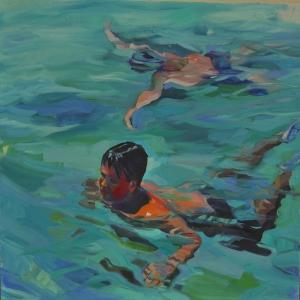 Yuzen Cocuklar 1 Yagli Boya Klasik Sanat Kanvas Tablo