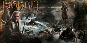 Yüzüklerin Efendisi Hobbitler-2 Film Afişi Kanvas Tablo