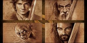 Yüzüklerin Efendisi Hobbitler Thorin-3 Film Afişi Kanvas Tablo