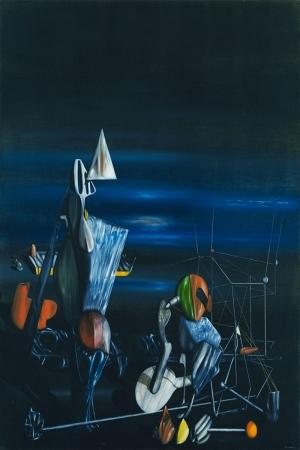 Yves Klein Kuzeye Dogru Yagli Boya Klasik Sanat Kanvas Tablo