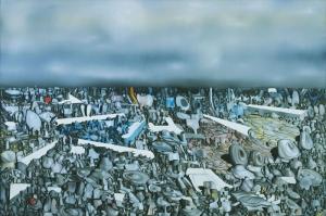 Yves Klein Yagli Boya Klasik Sanat Kanvas Tablo