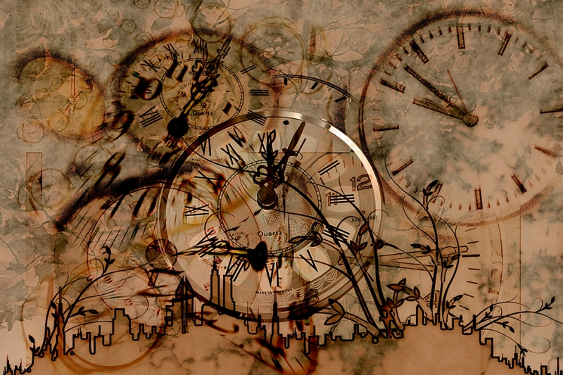 Zaman 2 Abstract Dijital ve Fantastik Kanvas Tablo