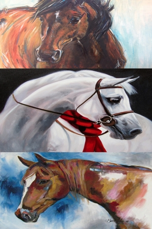 Zarif Atlar-44 Hayvan Temalı Sanat Kanvas Tablo