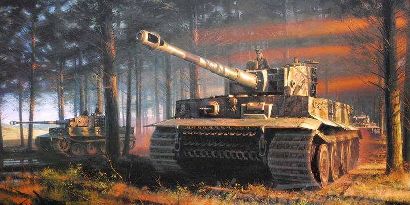 Zirhli Tanklar Askeri Savas Araclari 3 Yagli Boya Sanat Kanvas Tablo