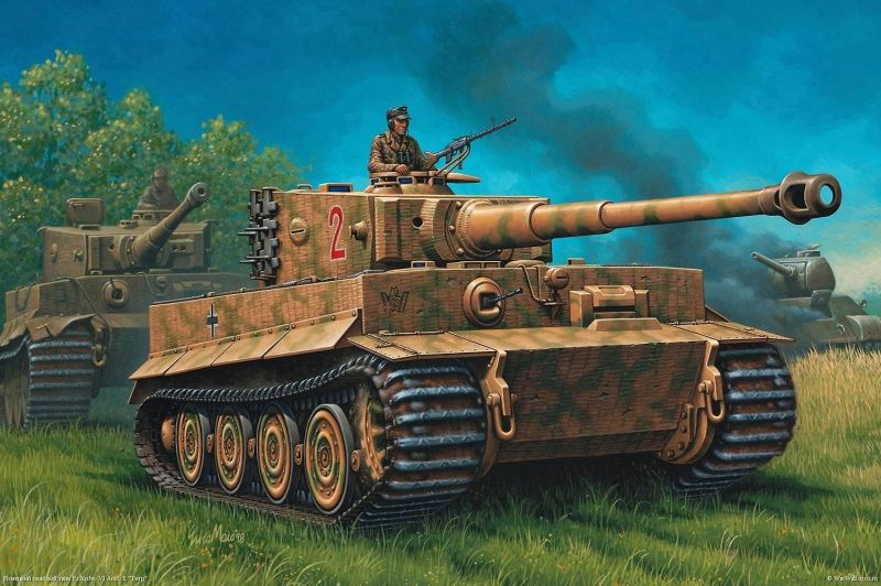 Zirhli Tanklar Askeri Savas Araclari 4 Yagli Boya Sanat Kanvas Tablo