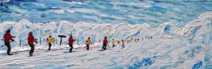 Zirvede Kayak-3 Manzara Sanat Kanvas Tablo