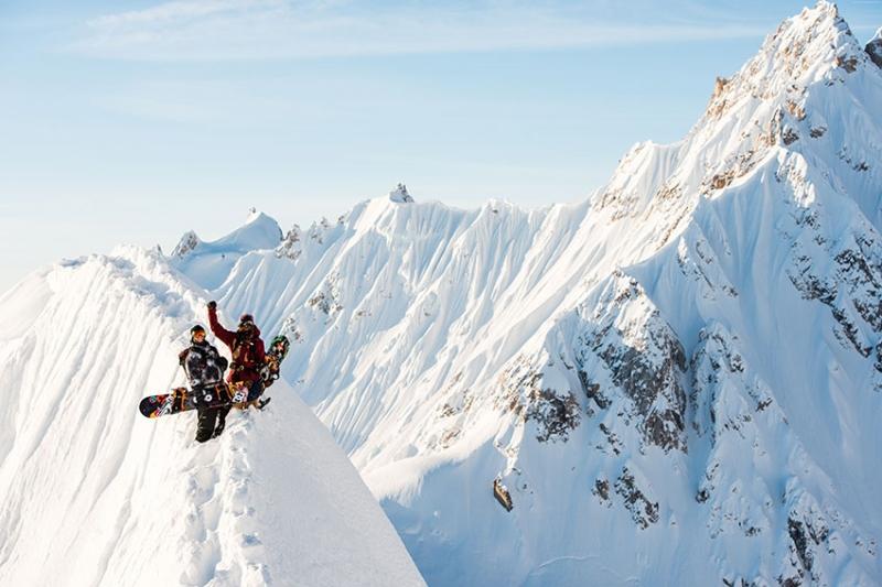 Zirvede Snowboard Spor Kanvas Tablo
