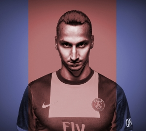 Zlatan Ibrahimoviç  PSG Futbol Spor Kanvas Tablo