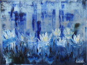 Zu Zambakları Hd Canlı Renkler Çiçekler Soyut Yağlı Boya Abstract Kanvas Tablo