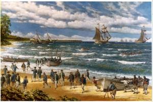 Zveg Bahama Kıyıları Amerika Deniz Çıkarması Klasik Sanat Kanvas Tablo